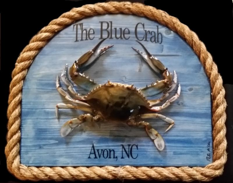 personalized blue crab wall art